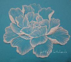 royal icing - brush embroidery