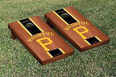 MiLB Bristol Pirates Cornhole Game Set Rosewood Stripe Version >>> You can find more details by visiting the image link.