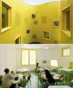 Tellus Nursery School in Stockholm, Sweden, by Tham & Videgard Aritekter. #architecture for kids
