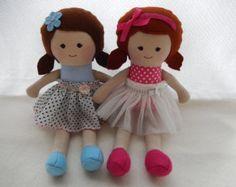 Muñeca de trapo hecha a mano muñeca de la tela por Marigoldandme
