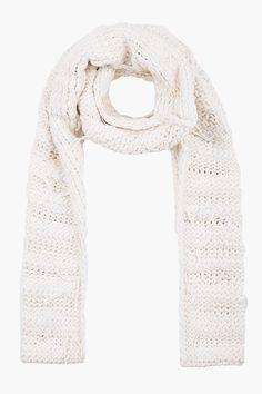 ivory hand knit scarf ++ maison martin margiela