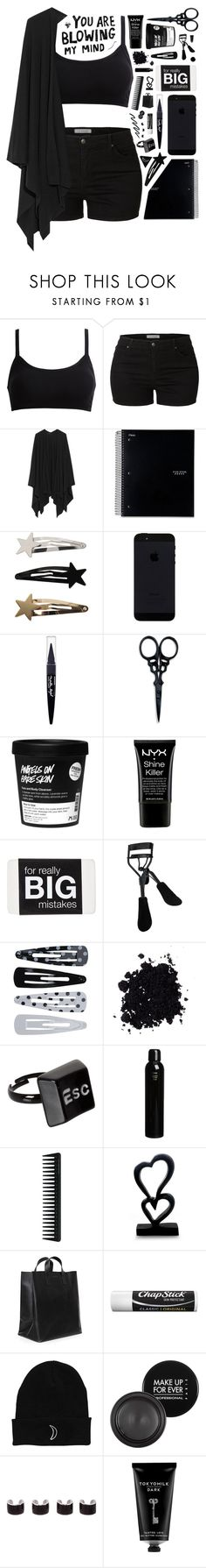 """1092"" by glitterals ❤ liked on Polyvore featuring LE3NO, The Row, Maybelline, The BrowGal, NYX, Eyeko, Forever 21, ASOS, Oribe and GHD"