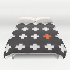 Geometric, plus, red cross, cross, black, white, shapes, decor, home