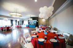 """Guest table from a """"Time Flies"""" Airplane Birthday Party on Kara's Party Ideas 