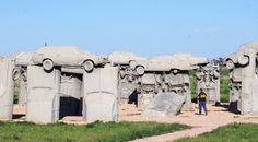 Carhenge in Alliance, Nebraska.  One of the highlights of the trip