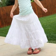 Tiered maxi skirt...a great skirt for the summer.
