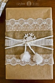 Burlap, Lace wrapping, Vintage Christmas | Pensacola Photographer