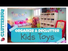 Organize and de-clutter toys with me - clutterbug on YouTube