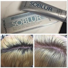 #BlurAlert Get rid of your client's unsightly roots in as little as 15 minutes! @Matrix's SOBLUR lifts up to one level, depositing a light veil of color to blur, contrast and perfect undertones.