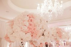 3 tier chandeliers & blush by white lilac, inc.