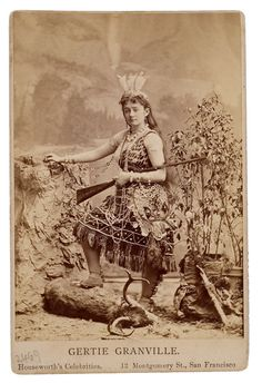 Houseworth Cabinet Card of a Western Performer