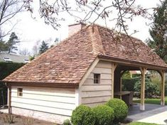 Shed Plans - Cottage style garden shed / pool house - Now You Can Build ANY Shed In A Weekend Even If You've Zero Woodworking Experience! Outdoor Buildings, Garden Buildings, Small Buildings, Style Cottage, Shed Floor, Carport Garage, Backyard Lighting, Shed Homes, Shed Plans