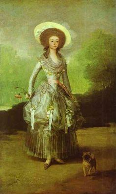 Goya, The Marquesa de Pontejos. I had to post this because of the pug:)!