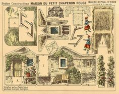 d'Epinal paper toy sheet No. 1239 Maison de Petit Chaperon Rouge flickr find from https://www.flickr.com/photos/taffeta/3294192374/in/set-72157626790129899