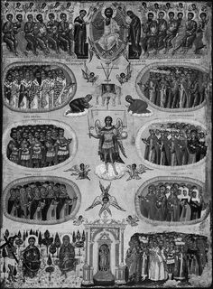 This beautiful century Icon of All Saints x cm) comes from the Greek Islands. ~ In the Orthodox Church, All Saints' Sunday… Greek Icons, Black Hebrew Israelites, Roman Church, Biblical Hebrew, Black Jesus, Sign Of The Cross, Tribe Of Judah, Orthodox Icons, All Saints