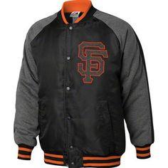 San Francisco Giants Majestic MLB Coaches Choice Jacket (Charcoal Gray)