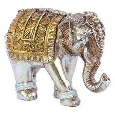 Deco 79 Glass Grn Elephant 8 W 17 H-84005 8 W//17 H