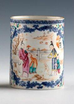 Chine. Compagnie des Indes. Chope. XVIIIème siècle.