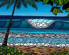 """Pipeline"" by Heather Brown...  ""Makes me think being on the beach in Hawaii with the love of my life."""