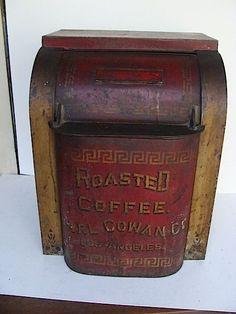 Roasted Coffee - Earl Cowan Co. Los Angeles - store counter bin