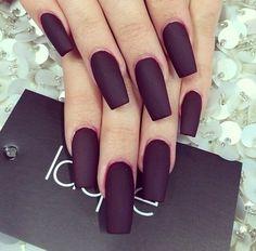 Image via We Heart It https://weheartit.com/entry/100518192/via/3933013 #fashion #long #love #nails #matteblack