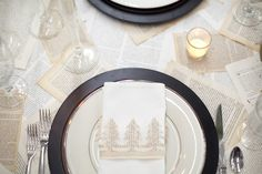 """(napkin idea and various pages forming the """"table cloth/runner"""") Hosting a Holiday Craft Party   Entertaining   B.A.S Blog"""
