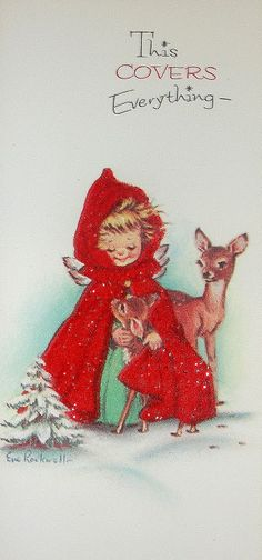 Vintage Eve Rockwell Christmas Card