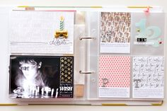 Include a 3x4 split card with journaling in white space | December Daily 2014 | Days 6-12 by Peppermint at @studio_calico