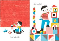 Now I Am Big! (Board Book)  - every page makes a great wall print