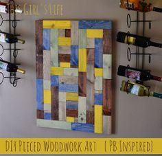 Put wood pieces together like a jigsaw puzzle to create intriguing wall art.