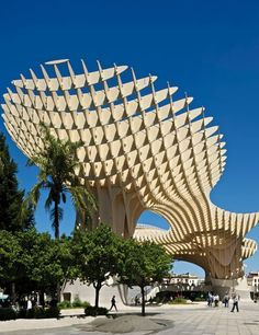 METROPOL PARASOL, Seville, Spain  J. Mayer H. Architects, 2011 - When excavation for a parking garage unearthed Roman artifacts in Seville's Plaza de la Encarnación, city officials opted to commission this welcoming landmark instead.