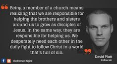 The body of Christ is legit. Biblical Quotes, Bible Verses Quotes, Meaningful Quotes, Spiritual Quotes, Inspirational Quotes, Truth Quotes, Quotes About God, Quotes To Live By, David Platt
