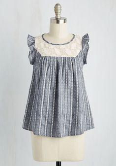 Kinetic Agenda Top | Mod Retro Vintage Short Sleeve Shirts | ModCloth.com