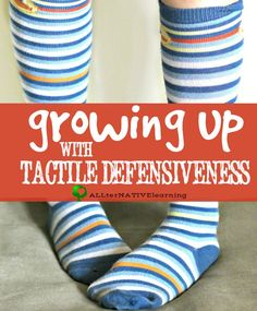 Growing up with tactile defensiveness - Learn about Sensory Processing Disorder (SPD) even as an adult, how to recognize tactile sensory issues in children, and how I have managed over the years including how my parenting is different. Sensory Disorder, Sensory Processing Disorder, Autism Sensory, Sensory Activities, Sensory Play, Sensory Issues In Children, Behavioral Therapy, Occupational Therapy, Sensory Diet