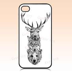 iphone 4 case iphone 4s case  bear wolf deer iphone by CaseDry, $9.90
