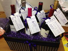 Made my first wine basket for a bridal shower! The gift that keeps on giving!