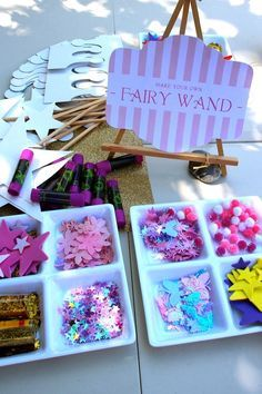 Fun fairy party activity! Cute Ideas via Kara's Party Ideas KarasPartyIdeas.com
