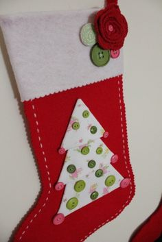 Incorporate a special onesie in a homemade christmas stocking for your little one.
