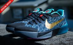 "Authentic 683275-030 Nike KD Trey 5 II Wolf Grey/Diffused Jade-Clear Grey ""China"""