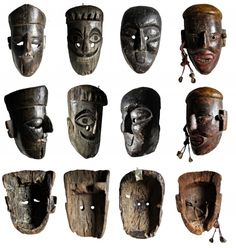 Faces of the Himalayas. Art Premier, Postcard Printing, Himalayan, Tribal Art, Asian Art, Primitive, Folk, Poster Prints, Old Things