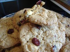 White Chocolate Chip Cranberry Oatmeal Cookies... i made these for a charity bake sale and they were a HUGE hit!