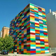 Paul Klee inspired building in spain..