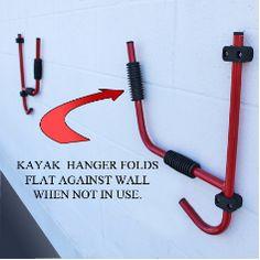 Kayak Storage System -Hook Kayak Hanger - surf to summit Comfy Kayak Kayaking Gear, Kayak Camping, Canoe And Kayak, Kayak Fishing, Fishing Tips, Canoeing, Saltwater Fishing, Fishing Knots, Camping Hacks