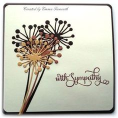 With Sympathy card using memory box Chandra die