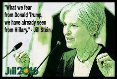#JillStein #ItsInOurHands www.jill2016.com Thank you jill, they ARE EXACTLY THE SAME CHOICE!! corrupt lying money grubbing....