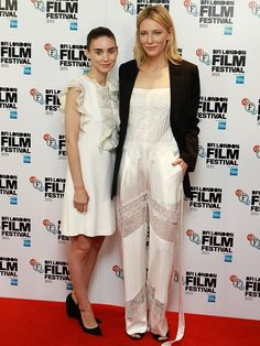 Rooney Mara and Cate Blanchett attend a photocall for 'Carol' during the BFI London Film Festival on October 14, 2015 in London, England.  Fred Duval, FilmMagic
