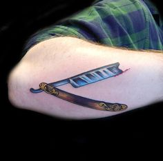 Antique Straight Razor Tattoo