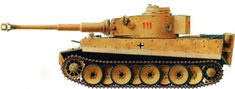 Schwere Pz. Abt. 504, March 1943, Tunisia paint pattern