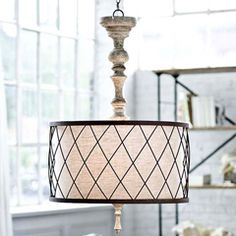 Regina Andrew Lighting Gesso Spindle Chandelier