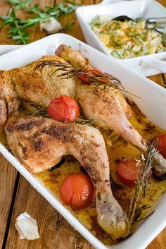 stuttgartcooking: Knoblauch-Hähnchen mit einem Kartoffel-Gurken-Salat